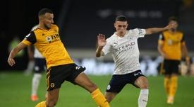 City beat Wolves 3-1. AFP