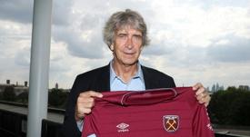 New West Ham manager Manuel Pellegrini. AFP