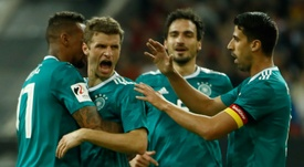 Spain started well but were pegged back by Thomas Muller's strike. AFP