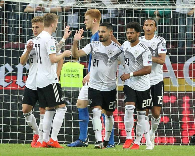 lkay Gundogan scored a penalty and created two other goals in Germany's 8-0 thrashing. AFP