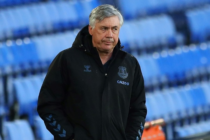 Ancelotti wants to leave Everton without Calvert-Lewin. AFP