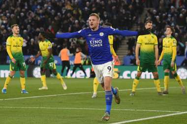 Leicester's winning run ends against Norwich. AFP