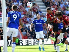 Callum Wilson (2R) netted twice for Bournemouth versus Everton. AFP