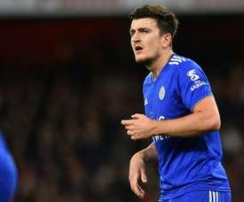 Maguire pourrait rester un an de plus à Leicester. AFP