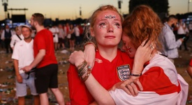England fans were ultimately left disappointed. AFP
