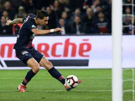 Di Maria's lob opened the scoring for PSG. AFP