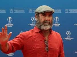 Cantona manda un messaggio al calcio. AFP
