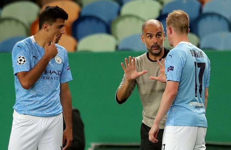 Guardiola has insisted that future lies at City. AFP