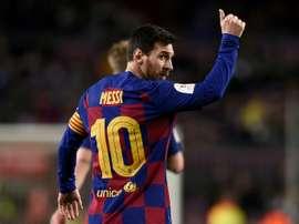 Simeone é um treinador profundamente admirado por Messi. AFP