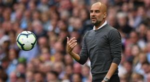 Guardiola se enfadó después de que su equipo desperdiciara 28 ocasiones ante el Fulham. AFP