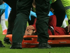 Liverpool face nervous wait on gravity of Salah head knock. AFP