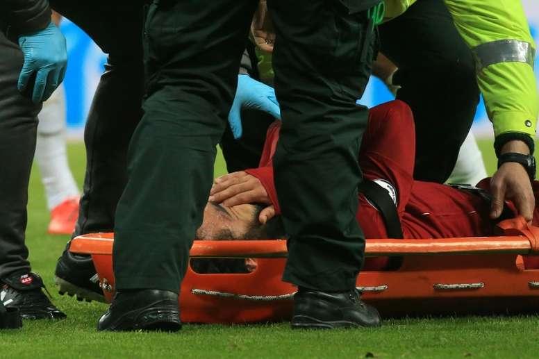 Salah won't play against Barça. AFP
