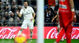 Benzema a inscrit le seul but de la rencontre. AFP