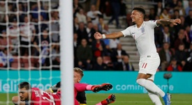 Jadon Sancho setting an example for England youngsters. AFP