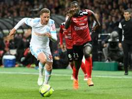 Marseille and Guingamp player out a dramatic draw. AFP