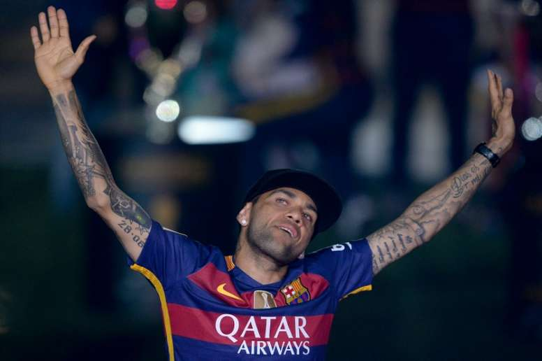 Dani Alves will find a new team this summer. AFP