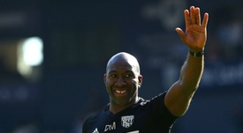 Darren Moore has excelled in the manager's role at the Hawthorns. AFP