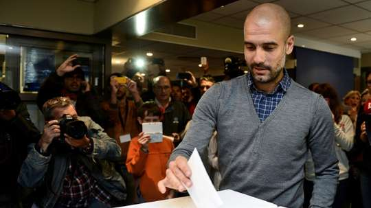 Guardiola made sure to visit imprisoned leaders of the Catalan independence movement. AFP