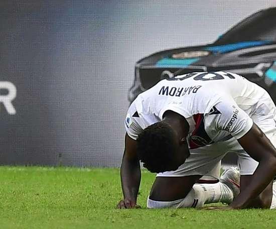 Musa Barrow gave Bologna victory at Inter Milan. AFP