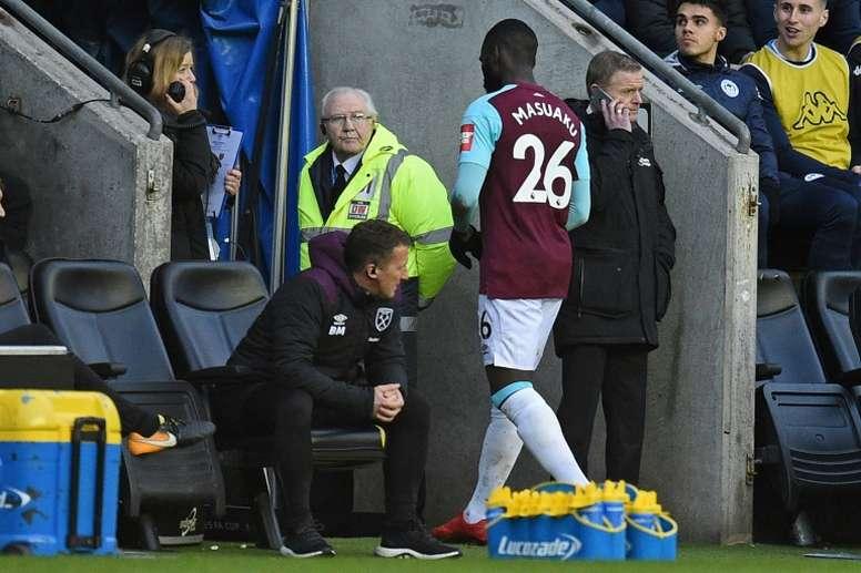 Masuaku podría marcharse del West Ham en el próximo mercado de fichajes. AFP