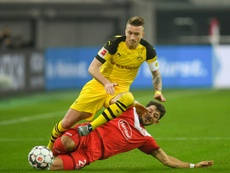 The German missed Dortmund's first game of 2019 with a twisted ankle. AFP