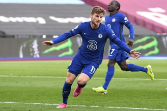 A supporter called for Werner to leave Chelsea. AFP
