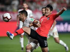 South Korea and Iran drew in a friendly on Tuesday. AFP