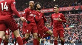 Mohamed Salah marcou um dos gols do Liverpool. AFP