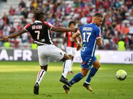 Nice suffered their third successive league defeat against Strasbourg. AFP