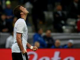 Germanys forward Mario Goetze during the friendly football match Germany vs Italy in Munich, southern Germany on March 29, 2016