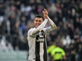 Cristiano Ronaldo scored the 100th goal in all competitions for Juve ion 2018. AFP