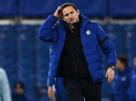 Chelsea manager Frank Lampard's job is under threat. AFP