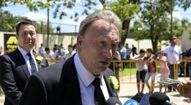 Warnock estuvo en la despedida a Sala. AFP