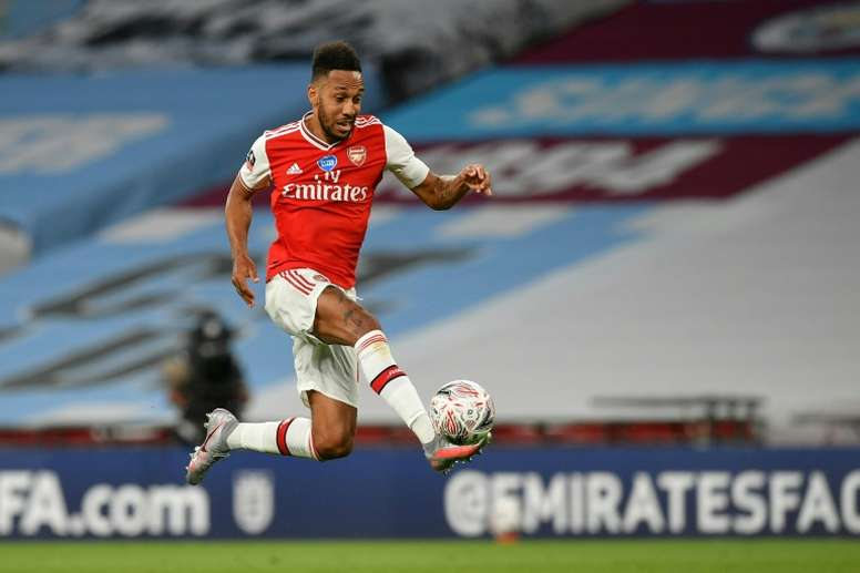 Arteta hopes Arsenal's FA Cup run can persuade Aubameyang to stay. AFP