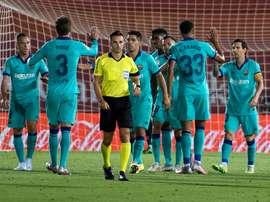 Messi, Vidal, Braithwaite... Barca has plenty of goalscorers. AFP