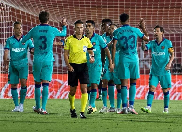El Barça goleó al Mallorca 0-4. AFP