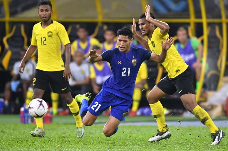 The game ended 0-0 between Thailand and Malaysia. AFP