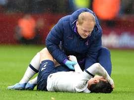 Son s'est blessé après 43 secondes et a joué tout le match. AFP