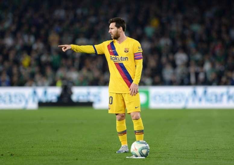 Messi, brillant avec le Barça. AFP