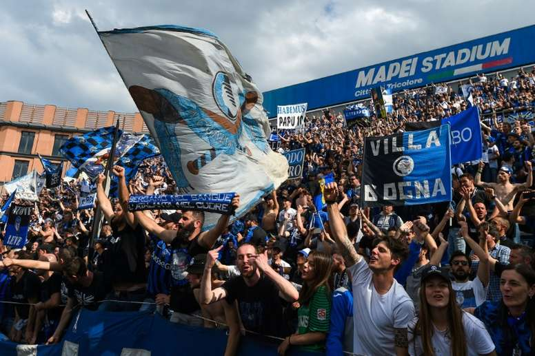 : 25,000 Atalanta fans are expected to travel to Rome for the Coppa Italia final. AFP