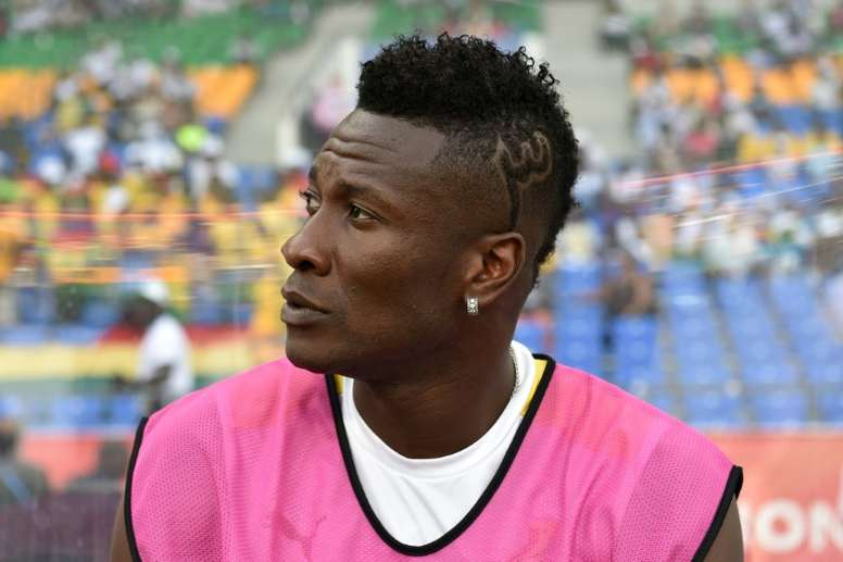 Asamoah Gyan había dejado la Selección porque el seleccionador le quitó la capitanía. AFP