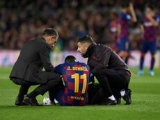 Dembele, Lenglet and Griezmann return as Barca resume training. AFP