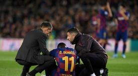 Dembélé se ha llevado un palo durísimo de su aún entrenador. AFP/Archivo