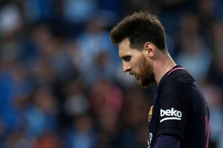 El Málaga fue el último equipo en vencer a Messi. AFP