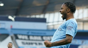 Sterling ended his goalscoring drought as Man City beat Fulham. AFP