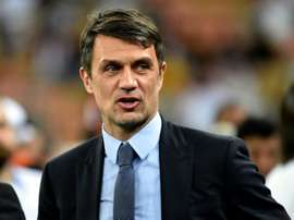 Maldini is unsure over his future at AC Milan. AFP