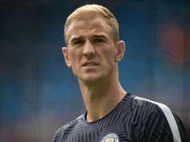 Hart, el portero del mejor once titular de los jugadores descartados por Pep Guardiola. AFP