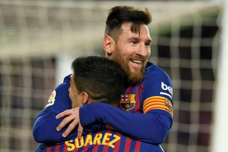 L'appel du pied du président de l'Atletico Madrid à Leo Messi. afp