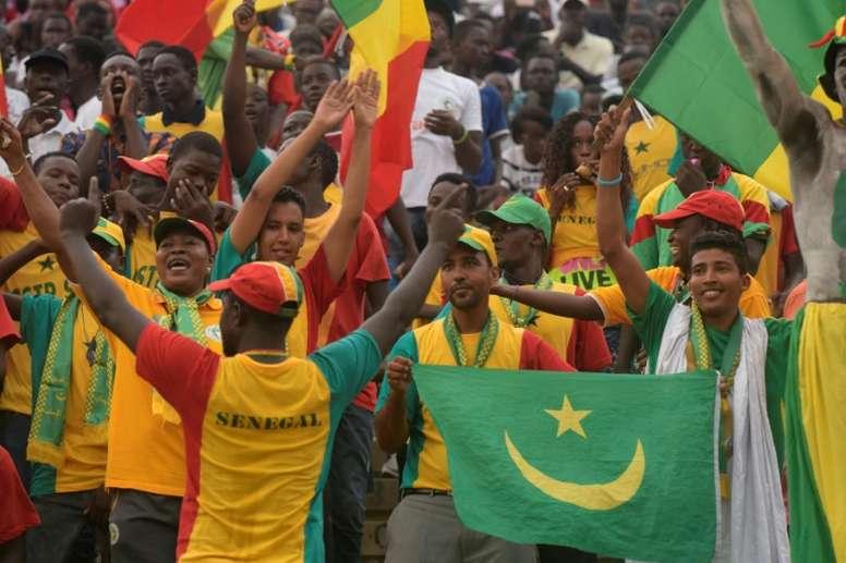 Senegals supporters cheer their team in September 2016 in Dakar. AFP