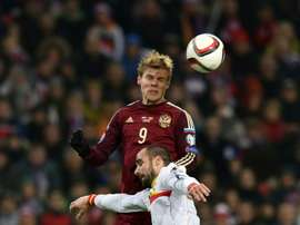 Kokorin to lead Russia for Argentina, Spain tests. AFP